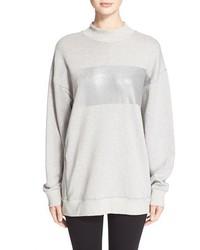 Rag and Bone Rag Bonejean Metallic Stripe Mock Neck Sweatshirt