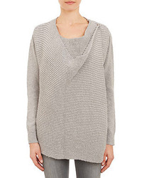 Barneys New York Rib Knit Wrap Cardigan