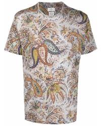 Etro Paisley Print Short Sleeve T Shirt