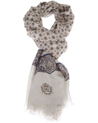 Grey Paisley Scarf