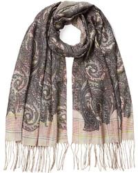 Etro Wool Silk Printed Scarf