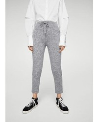 Mango Flecked Baggy Trousers