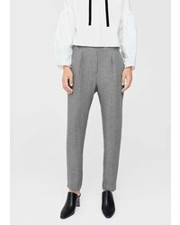 Mango Pleat Detail Trousers