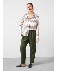 Violeta BY MANGO Soft Baggy Trousers