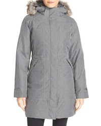 Arctic down parka with removable faux fur trim hood medium 1055426