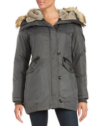 Vince Camuto Faux Fur Lined And Trimmed Parka