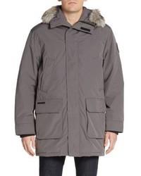 Calvin Klein Faux Fur Trimmed Cotton Blend Parka Jacket