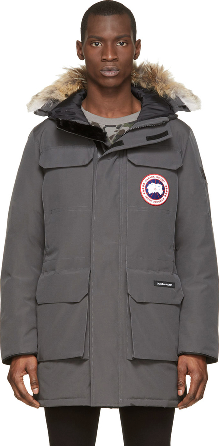 ... Canada Goose Grey Down Fur Citadel Parka ...