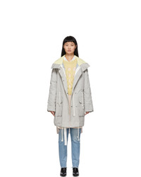 Yves Salomon Army Grey Padded Parka
