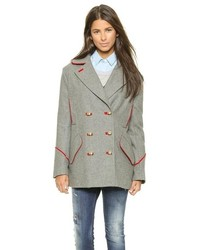 Grey pea coat original 1440987