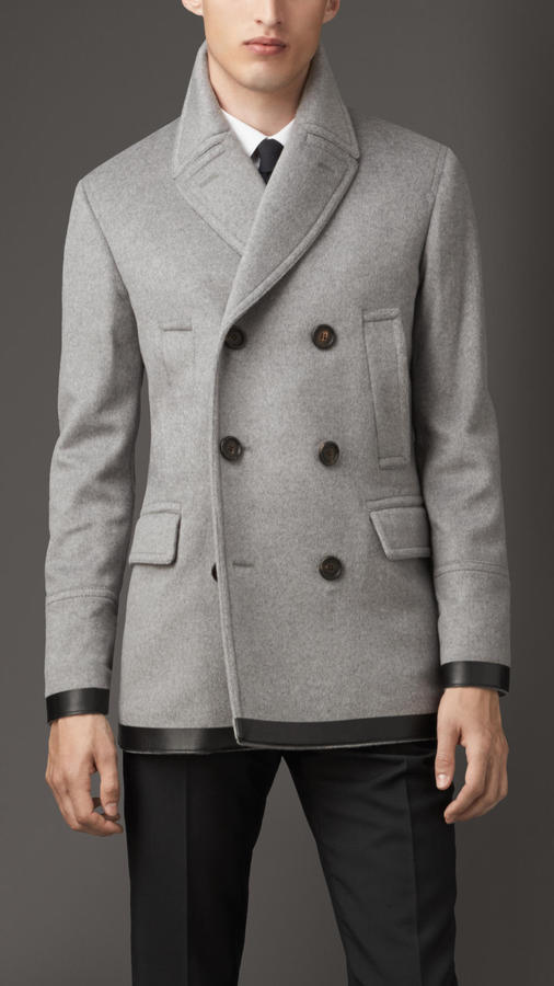 Burberry Virgin Wool Cashmere Pea Coat | Where to buy & how to wear