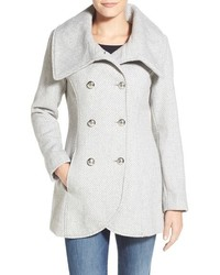 Double breasted basket weave coat medium 372807