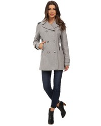 Vince Camuto Double Breasted Military Wool J8001