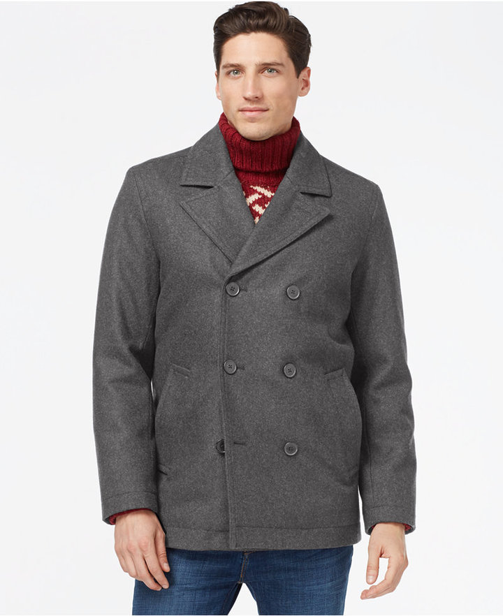 Tommy Hilfiger Double Breasted Peacoat | Where to buy & how to wear