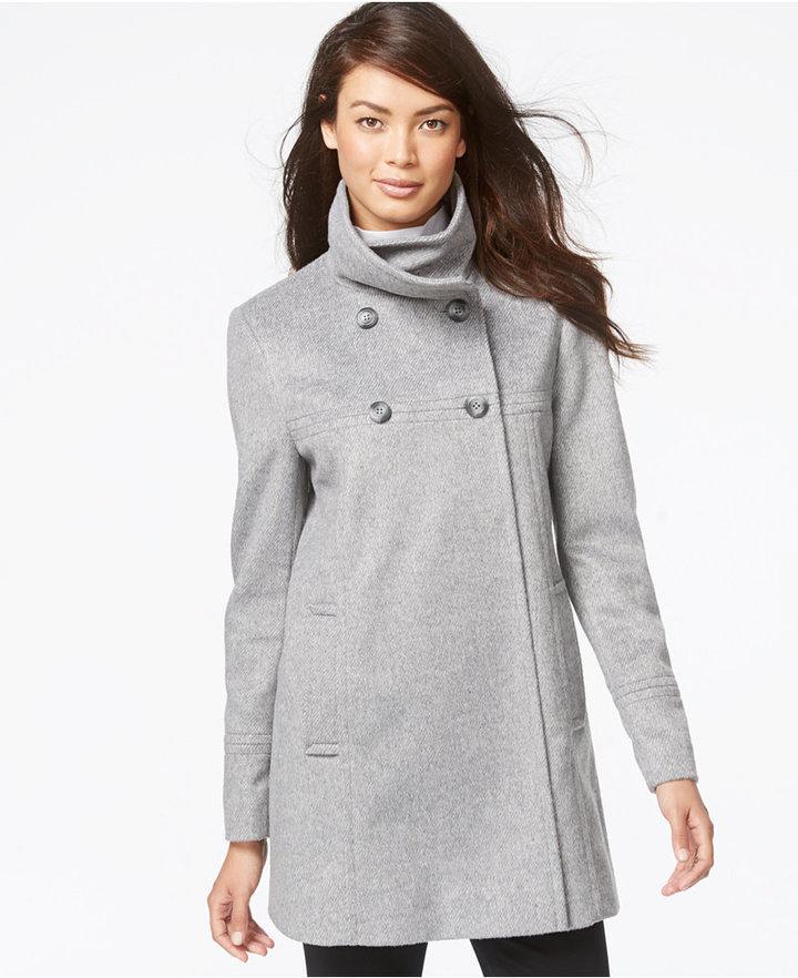 Larry Levine Flyaway Wool Walker Coat | Where to buy & how to wear