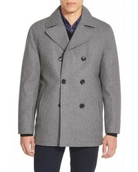 Michael Kors Michl Kors Wool Blend Double Breasted Peacoat