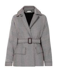 By Malene Birger Rawil Checked Cotton Blend Twill Jacket