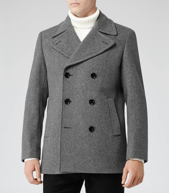 Woolrich Roman Wool Rich Peacoat | Where to buy & how to wear