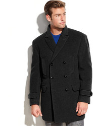 Calvin Klein Solid Double Breasted Peacoat | Where to buy & how to ...