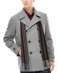 Claiborne Wool Blend Pea Coat