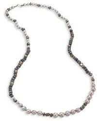Chan Luu 6 10mm Pearl Pyrite Mystic Lab Strand Necklace