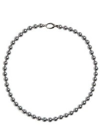 7mm round simulated pearl strand necklace medium 785065
