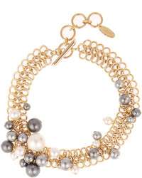Lanvin Faux Pearl Chain Necklace