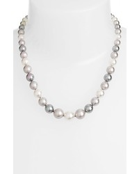 Graduated round simulated pearl necklace medium 3667108