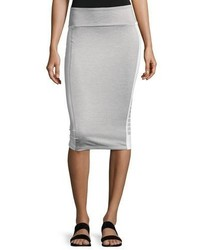 Puma Archive Logo Pencil Midi Skirt Light Gray