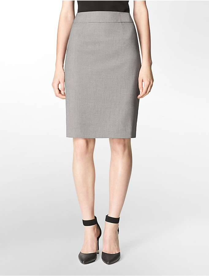 calvin klein pattern pencil suit skirt where to buy