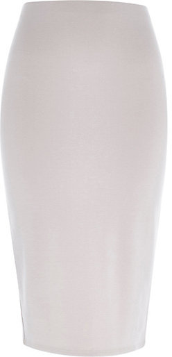 River Island Grey High Waisted Pencil Skirt | Where to buy & how ...
