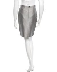 Hermes Herms Silk Pencil Skirt