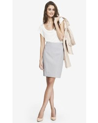 Express High Waist Seamed Pencil Skirt Gray | Where to buy & how ...