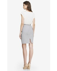 42e07e20d Express High Waist Seamed Pencil Skirt Gray, $69 | Express ...