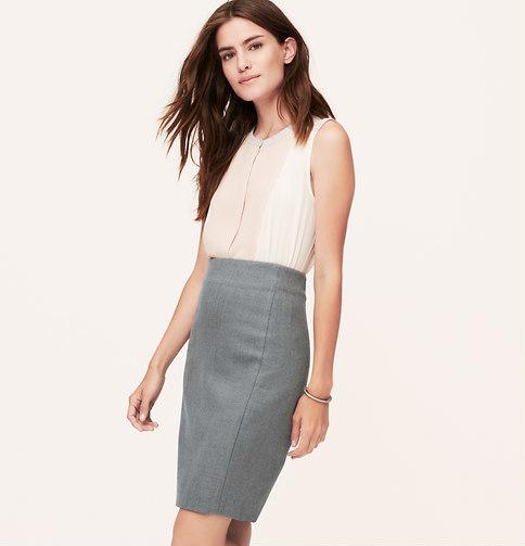 2015ded9c8 LOFT Petite Scuba Pencil Skirt, $69 | LOFT | Lookastic.com