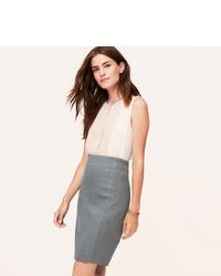1ecd544bdaae1a Women's Grey Pencil Skirts by LOFT | Women's Fashion | Lookastic.com