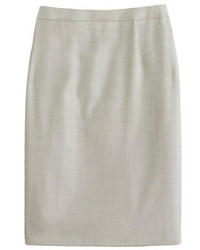 Pencil skirt in super 120s wool medium 121762