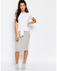 Missguided Ribbed Pencil Skirt