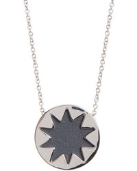 House Of Harlow 1960 Mini Sunburst Leather Pendant Necklace