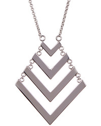 Trina Turk Chain Drop Chevron Pendant Necklace