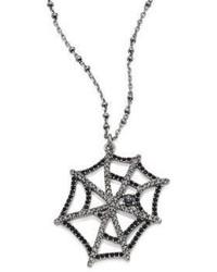 Marc Jacobs Cobweb Crystal Pendant Necklace