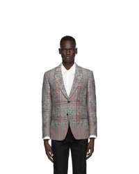 Alexander McQueen Black And Red Prince Of Wales Blazer
