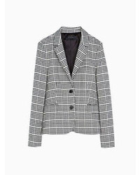 Choies vintage gray grid blazer medium 66258