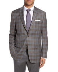 Classic fit plaid wool sport coat medium 4991699