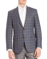 Saks Fifth Avenue Collection By Samuelsohn Classic Fit Tartan Wool Plaid Jacket