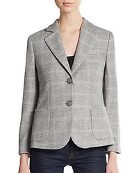 Giorgio armani cashmere windowpane check blazer medium 331478