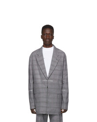 Off-White Grey Wool Shirt Blazer
