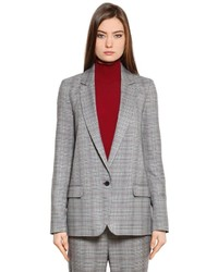 Mahdi check classic viscose blazer medium 4418439