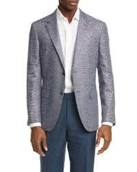 Ermenegildo Zegna Milano Easy Classic Fit Plaid Sport Coat