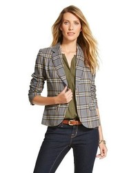 Merona Plaid Tailored Blazer Tm